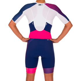 Z3R0D Racer Time Trial Strój triathlonowy Kobiety, dark blue/pink